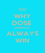 WHY DOSE  AMERICA ALWAYS WIN - Personalised Poster A4 size