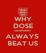 WHY DOSE GERMANY ALWAYS  BEAT US - Personalised Poster A4 size