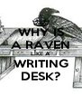 WHY IS A RAVEN LIKE A WRITING DESK? - Personalised Poster A4 size