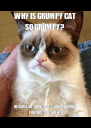 WHY IS GRUMPY CAT SO GRUMPY? BECAUSE HE DIDN'T VOTE ADAM HAMDAN FOR VICE PRESIDENT - Personalised Poster A4 size