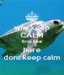 why keep CALM firoz bhai here dont keep calm - Personalised Poster A4 size