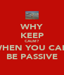 WHY KEEP CALM? WHEN YOU CAN BE PASSIVE - Personalised Poster A4 size