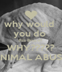 why would  you do  this Bruce? WHY????? ANIMAL ABUSE! - Personalised Poster A4 size