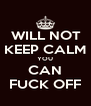 WILL NOT  KEEP CALM YOU CAN FUCK OFF - Personalised Poster A4 size