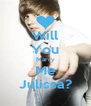 Will You Marry Me Julissa? - Personalised Poster A4 size
