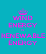 WIND ENERGY IS RENEWABLE ENERGY - Personalised Poster A4 size