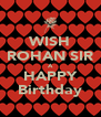 WISH ROHAN SIR A HAPPY Birthday - Personalised Poster A4 size