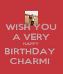 WISH YOU  A VERY  HAPPY  BIRTHDAY  CHARMI  - Personalised Poster A4 size