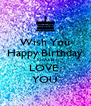 Wish You Happy Birthday KHAATI LOVE  YOU - Personalised Poster A4 size