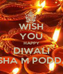 WISH YOU HAPPY DIWALI NISHA M PODDAR - Personalised Poster A4 size
