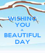 WISHING YOU A BEAUTIFUL DAY - Personalised Poster A4 size