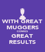 WITH GREAT MUGGERS COMES GREAT RESULTS - Personalised Poster A4 size