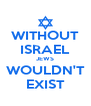 WITHOUT ISRAEL JEWS WOULDN'T EXIST - Personalised Poster A4 size