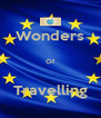 Wonders  Of  Travelling - Personalised Poster A4 size