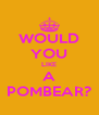WOULD YOU LIKE A POMBEAR? - Personalised Poster A4 size