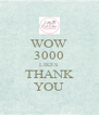 WOW 3000 LIKES THANK YOU - Personalised Poster A4 size