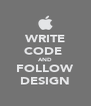 WRITE CODE  AND FOLLOW DESIGN - Personalised Poster A4 size