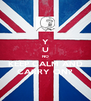 Y U NO KEEP CALM AND CARRY ON? - Personalised Poster A4 size