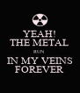 YEAH! THE METAL RUN  IN MY VEINS FOREVER - Personalised Poster A4 size