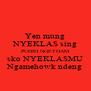 Yen mung NYEKLAS sing PUDIH NGETHAM sko NYEKLASMU Ngamehowk ndeng - Personalised Poster A4 size