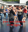 yes we dance in bruges - Personalised Poster A4 size