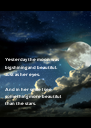 Yesterday the moon was