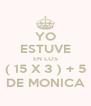 YO ESTUVE EN LOS ( 15 X 3 ) + 5 DE MONICA - Personalised Poster A4 size