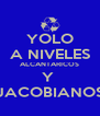 YOLO A NIVELES ALCANTARICOS Y  JACOBIANOS - Personalised Poster A4 size