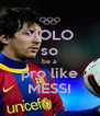 YOLO so be a pro like MESSI - Personalised Poster A4 size