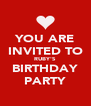YOU ARE INVITED TO RUBY'S BIRTHDAY PARTY - Personalised Poster A4 size