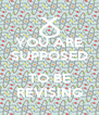YOU ARE SUPPOSED  TO BE REVISING - Personalised Poster A4 size