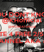 """""""YOU DONT KNOW"""" @KHofficial @MCNEATofficial VOTE 4 FREE 2/5 PM CHANNEL AKA app - Personalised Poster A4 size"""