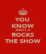 YOU KNOW MACCY D ROCKS THE SHOW - Personalised Poster A4 size