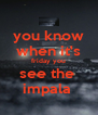 you know when it's friday you see the  impala  - Personalised Poster A4 size