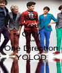 You Only Love One Direction YOLOD - Personalised Poster A4 size