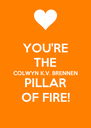YOU'RE THE COLWYN K.V. BRENNEN PILLAR OF FIRE! - Personalised Poster A4 size