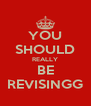 YOU SHOULD REALLY BE REVISINGG - Personalised Poster A4 size