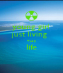 young girl just living  THIS life  - Personalised Poster A4 size