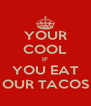 YOUR COOL IF YOU EAT OUR TACOS - Personalised Poster A4 size