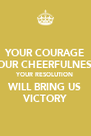 YOUR COURAGE YOUR CHEERFULNESS YOUR RESOLUTION WILL BRING US VICTORY - Personalised Poster A4 size