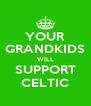 YOUR GRANDKIDS WILL SUPPORT CELTIC - Personalised Poster A4 size