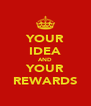 YOUR IDEA AND YOUR REWARDS - Personalised Poster A4 size