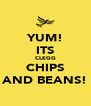 YUM! ITS CLEGG CHIPS AND BEANS! - Personalised Poster A4 size