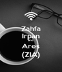 Zahfa Irpan and Ares (ZIA) - Personalised Poster A4 size