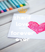 zharif love izzah forever ever - Personalised Poster A4 size