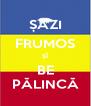 ȘĂZI FRUMOS ȘÎ BE PĂLINCĂ - Personalised Poster A4 size