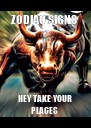 ZODIAC SIGNS  HEY TAKE YOUR PLACES  - Personalised Poster A4 size
