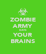 ZOMBIE ARMY EATS YOUR BRAINS - Personalised Poster A4 size