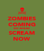 ZOMBIES COMING GO AHEAD SCREAM NOW - Personalised Poster A4 size