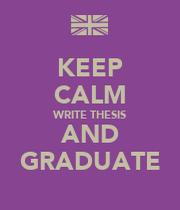 write graduate thesis